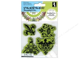 Inkadinkado Cling Stamp Stamping Gear Holiday Gift Wrap Patterns