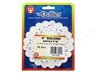 Hygloss Paper Lace Doilies Round 4 in. White 36 pc.