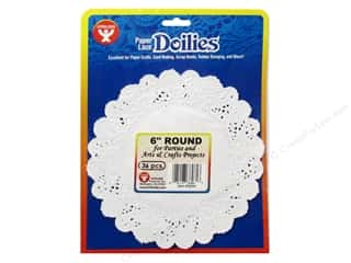 novelties: Hygloss Paper Lace Doilies Round 6 in. White 36 pc.