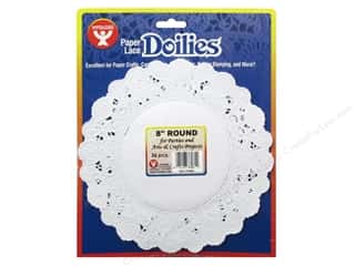 novelties: Hygloss Paper Lace Doilies Round 8 in. White 36 pc.