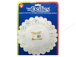 novelties: Hygloss Paper Lace Doilies Round 10 in. White 36 pc.
