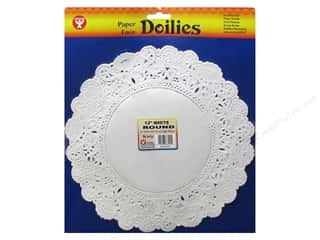 craft & hobbies: Hygloss Paper Lace Doilies Round 12 in. White 36 pc.