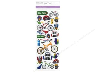 Scrapbooking & Paper Crafts  Papers : Multicraft Sticker Paper Craft Glitter Bike Path
