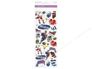 Scrapbooking & Paper Crafts  Papers : Multicraft Sticker Paper Craft Glitter Hockey Heaven