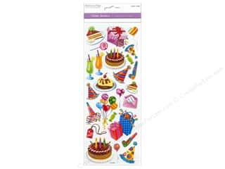 stickers: Multicraft Sticker Paper Craft Glitter Happy Birthday