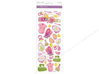 Scrapbooking & Paper Crafts: Multicraft Sticker Paper Craft Glitter Baby Girl