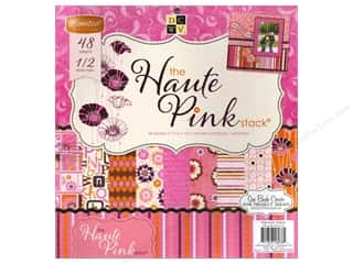 Clearance Die Cuts with a View Stacks: Die Cuts With A View 12 x 12 in. Cardstock Stack Haute Pink