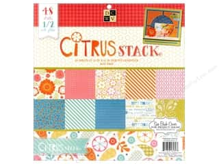 Clearance Die Cuts with a View Stacks: Die Cuts With A View 12 x 12 in. Cardstock Stack Citrus #2