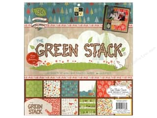 Clearance Die Cuts with a View Stacks: Die Cuts With A View 12 x 12 in. Cardstock Stack Green #2