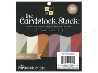 Clearance Die Cuts with a View Stacks: Die Cuts With A View 6 x 6 in. Cardstock Mat Stack Neutrals
