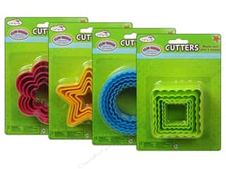 Multicraft Krafty Kids Clay-Dough Cutter Nested Assorted 4 Styles