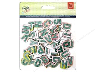 chipboard letters: BasicGrey Chipboard Alphabet Stickers Fresh Cut