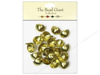 craft & hobbies: The Bead Giant Collection Nailhead Cone 1/2 in. Gold 20 pc.
