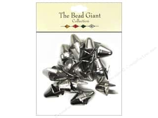 craft & hobbies: The Bead Giant Collection Nailhead Spike Large Silver 20 pc.
