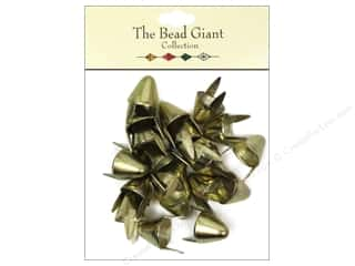 craft & hobbies: The Bead Giant Collection Nailhead Spike Large Gold 20 pc.