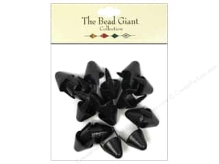 The Bead Giant Collection Nailhead Spike Large Black 20 pc.