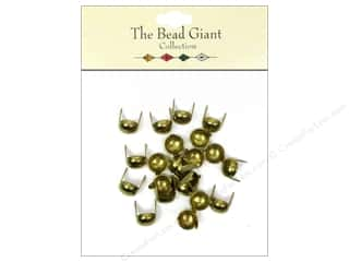 craft & hobbies: The Bead Giant Collection Nailhead Dome 5/16 in. Gold 22 pc.