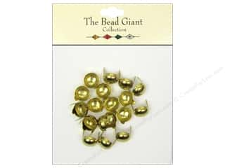 craft & hobbies: The Bead Giant Collection Nailhead Dome 3/8 in. Gold 20 pc.
