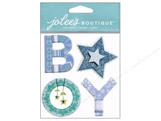 Jolee's Boutique Stickers Baby Boy Yarn Word