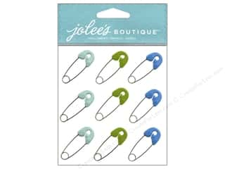 Jolee's Boutique Stickers Baby Boy Safety Pins