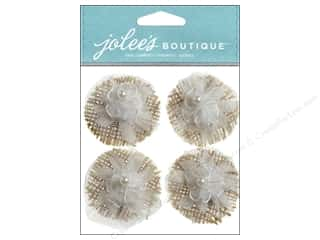 burlap: Jolee's Boutique Stickers Lace Flowers
