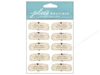 Stickers: Jolee's Boutique Stickers Invitation Words Repeat