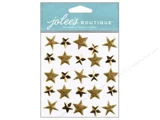 stickers: Jolee's Boutique Stickers Gold Stars Repeat