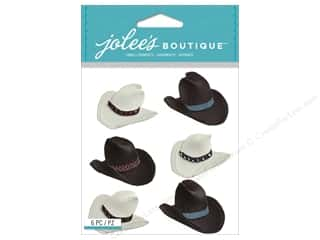 Stickers: Jolee's Boutique Stickers Cowboy Hats Repeat