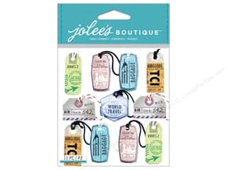 Jolee's Boutique Stickers Travel Tags Repeat