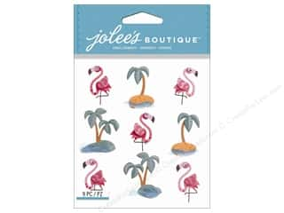 stickers: Jolee's Boutique Stickers Flamingos & Palm Tree Repeat