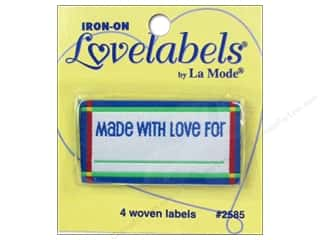 Blumenthal Quilting: Blumenthal Iron-On Lovelabels 4 pc. Made With Love For Blue