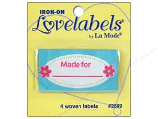 Blumenthal Quilting: Blumenthal Iron-On Lovelabels 4 pc. Made For