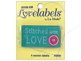 Blumenthal Quilting: Blumenthal Iron-On Lovelabels 4 pc. Stitched With Love