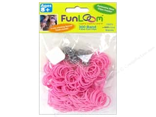 FunLoom Silicone Bands 300 pc. Sparkle Pink