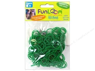 FunLoom Silicone Bands 300 pc. Sparkle Green