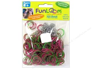 FunLoom Silicone Bands 300 pc. Tie Dye Pink & Green
