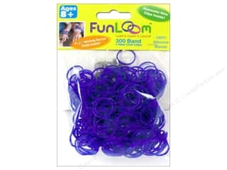 FunLoom Silicone Bands 300 pc. Sparkle Purple