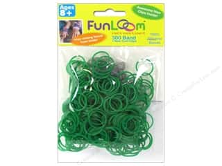 FunLoom Silicone Bands 300 pc. Green