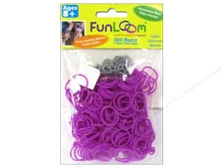 FunLoom Silicone Bands 300 pc. Purple