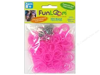 FunLoom Silicone Bands 300 pc. Glow In The Dark Peach Red