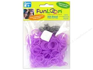 FunLoom Silicone Bands 300 pc. Glow In The Dark Dream Purple