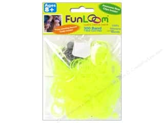 FunLoom Silicone Bands 300 pc. Neon Yellow