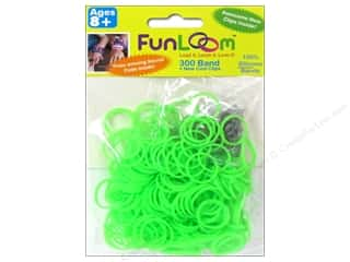FunLoom Silicone Bands 300 pc. Neon Green