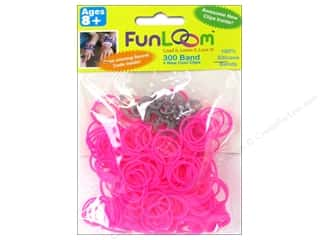 FunLoom Silicone Bands 300 pc. Neon Pink