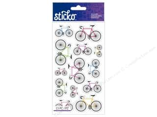EK Sticko Stickers Colorful Bicycles