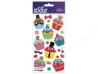 stickers: EK Sticko Stickers Dress-Up Cupcakes