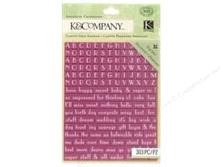 k & company chipboard: K&Company Adhesive Chipboard Lily Ashbury Raspberry Lemonade Alphabet