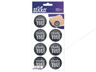 EK Sticko Stickers Chalk Thank You Tags