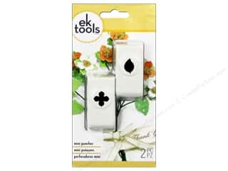 EK Paper Shapers Punch Mini Foliage Green Leaf 2pc