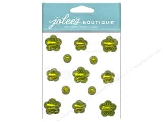 Clearance: Jolee's Boutique Stickers Floral Prizm Citrine